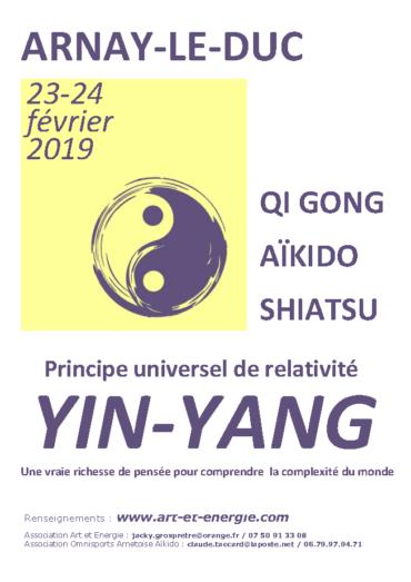 Yin-Yang – stage les 23-24 février