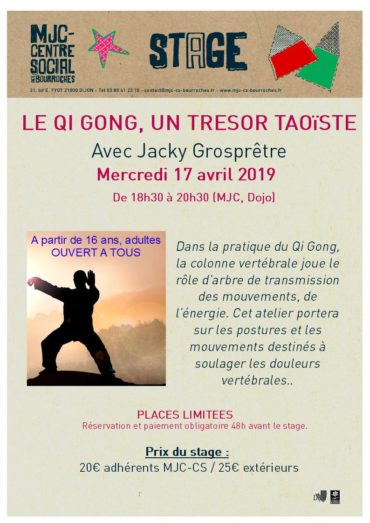 17 avril –  «Le Qi Gong, un trésor taoïste» – Colonne vertébrale