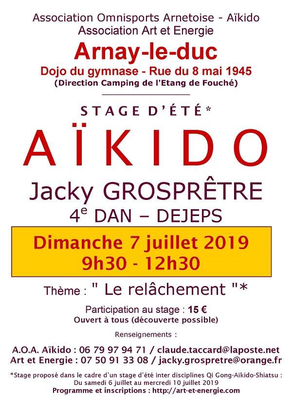 Aïkido – stage d'été – le 7 juillet 2019