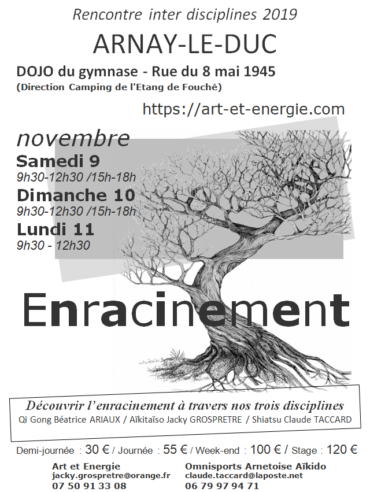 Enracinement – stage novembre 2019